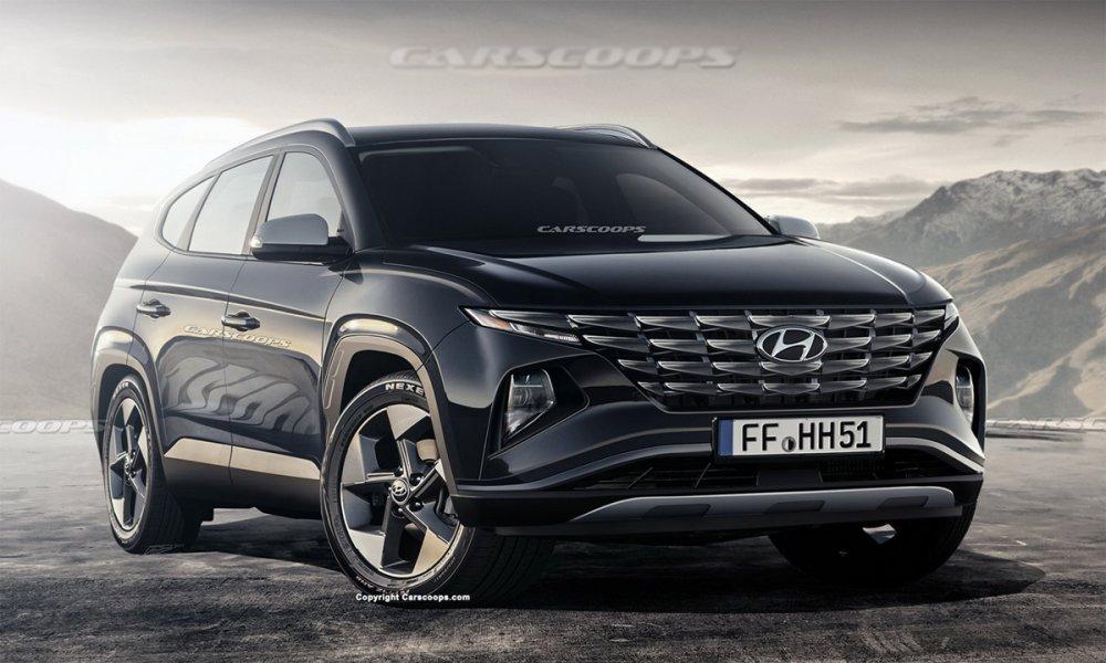 Hyundai Tucson 2021 có thể dùng màn hình kiểu máy tính bảng - VnExpress