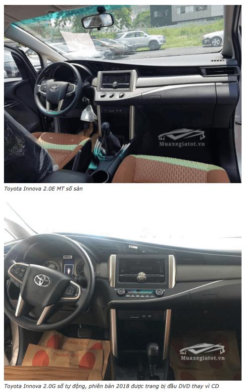 So sánh xe Toyota Innova E và G