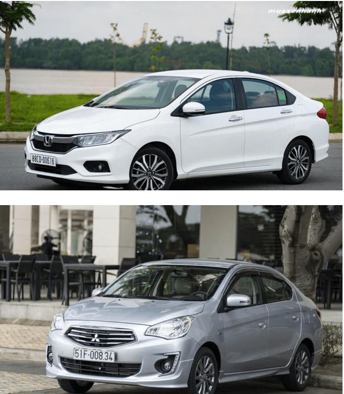 So sánh Honda City 1.5CVT và Mitsubishi Attrage Eco trong phân khúc sedan hạng B   MUA XE NHANH