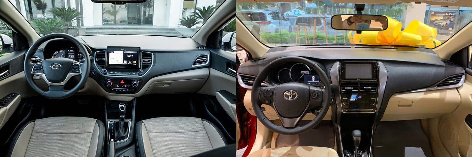 So sánh xe Toyota Vios và Huyendai Accent