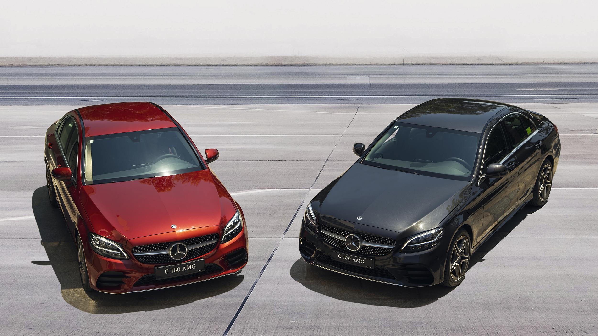 So sánh Mercedes C180 và C200