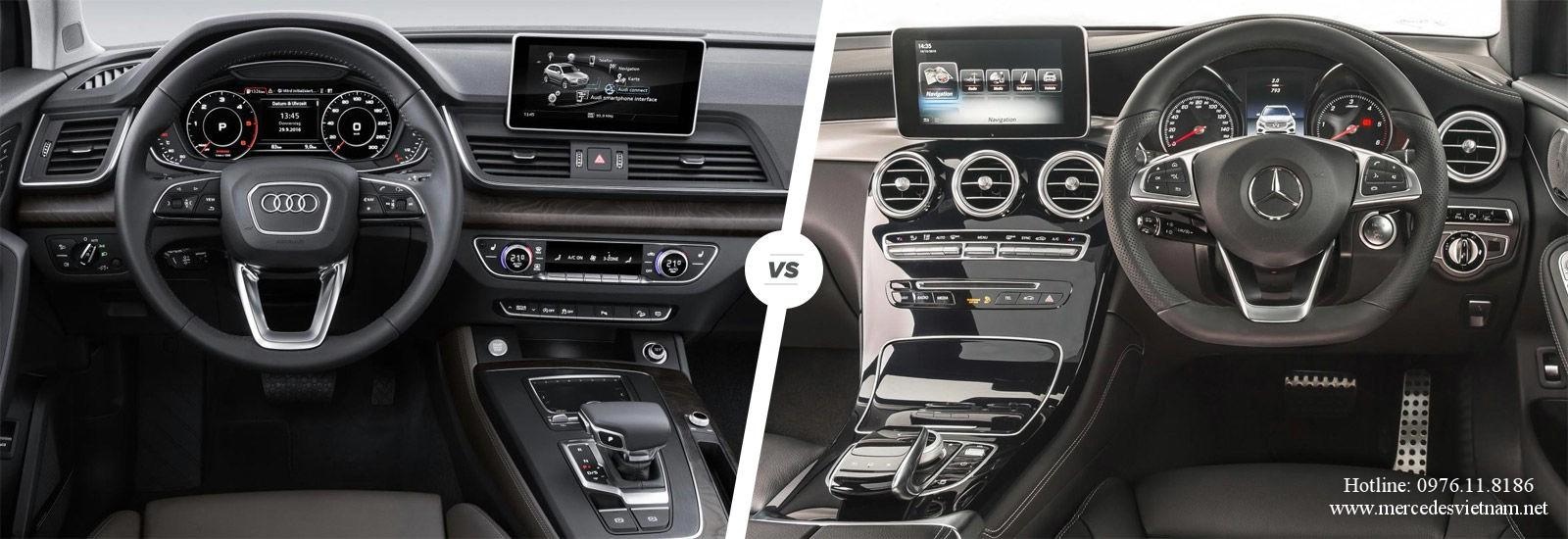 So sánh Mercedes GLC 300 và Audi Q5